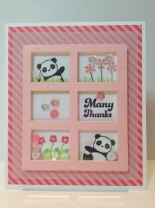 Panda Thank You Shaker Card 2